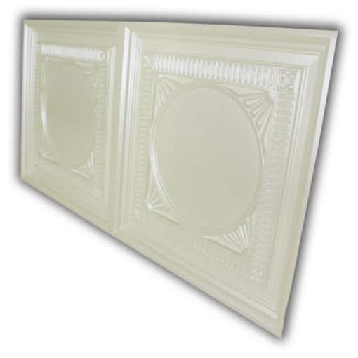 8266 Faux Tin Ceiling Tile - Cream Pearl