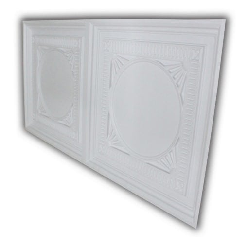 8266 Faux Tin Ceiling Tile - White Matte