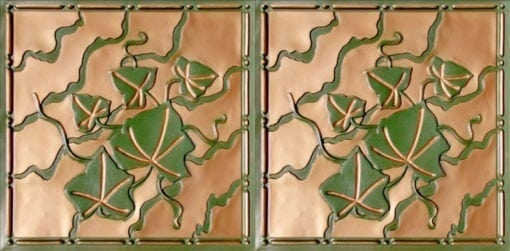 8202 Faux Tin Ceiling Tile - Patina Copper