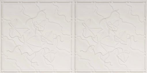 8202 Faux Tin Ceiling Tile - White Matte