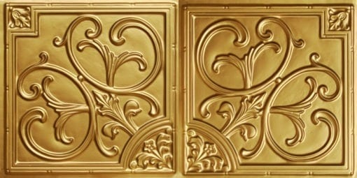 8204  Faux Tin Ceiling Tile - Brass