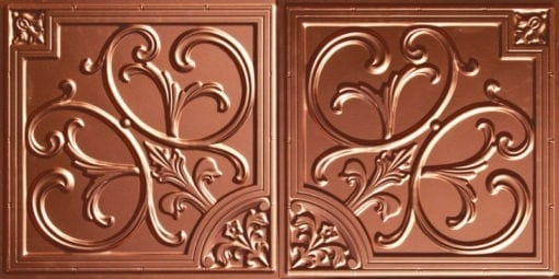 8204  Faux Tin Ceiling Tile - Copper