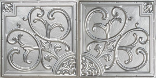 8204  Faux Tin Ceiling Tile - Silver