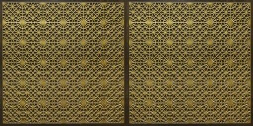 FT803 Faux Tin Ceiling Tile - Antique Brass