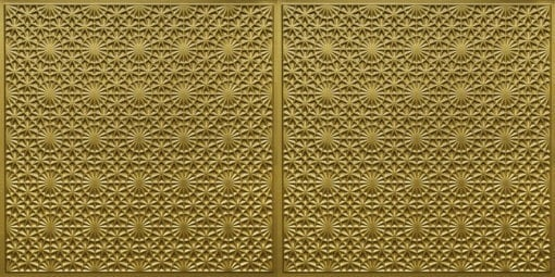 FT803 Faux Tin Ceiling Tile - Brass