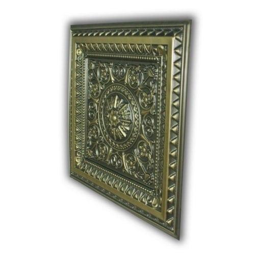 223 Faux Tin Ceiling Tile - Antique Brass