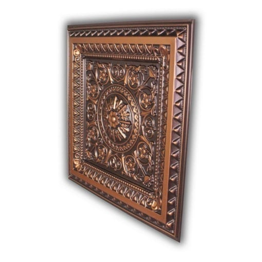 223 Faux Tin Ceiling Tile - Antique Copper