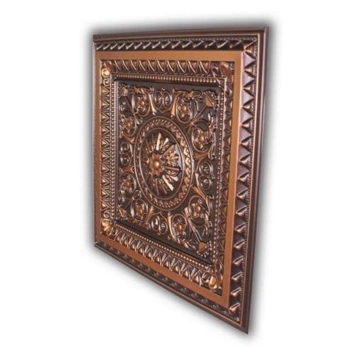 223 Faux Tin Ceiling Tile - Antique Copper