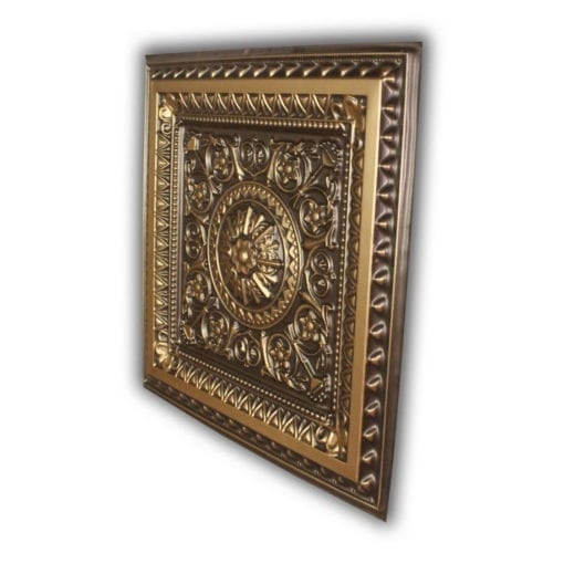 223 Faux Tin Ceiling Tile - Antique Gold