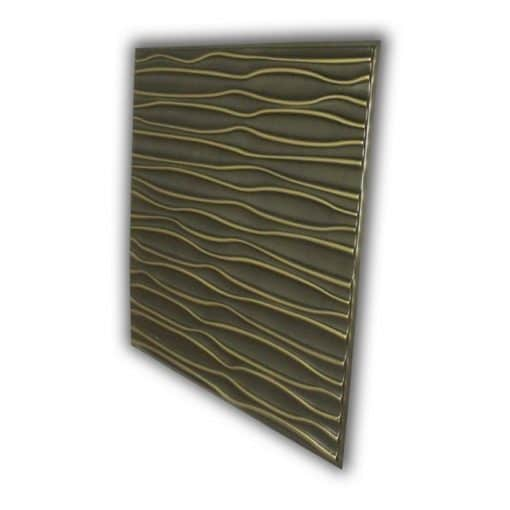 265 Faux Tin Ceiling Tile - Antique Brass