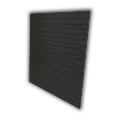 265 Faux Tin Ceiling Tile - Black Matte