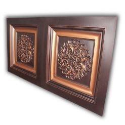 8268 Faux Tin Ceiling Tile- Antique Copper