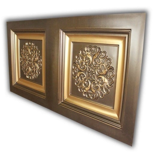 8268 Faux Tin Ceiling Tile- Antique Gold