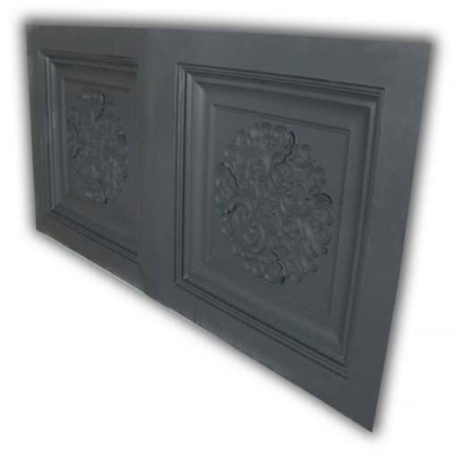 8268 Faux Tin Ceiling Tile- Black Matte