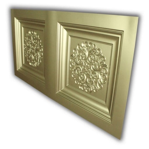 8268 Faux Tin Ceiling Tile- Brass