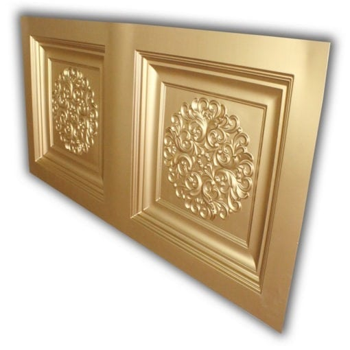 8268 Faux Tin Ceiling Tile- Gold