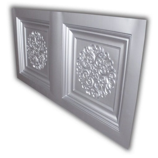 8268 Faux Tin Ceiling Tile- Silver