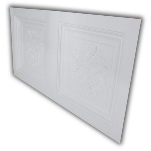 8268 Faux Tin Ceiling Tile- White Matte