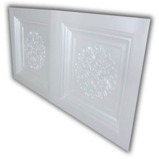 8268 Faux Tin Ceiling Tile- White Pearl