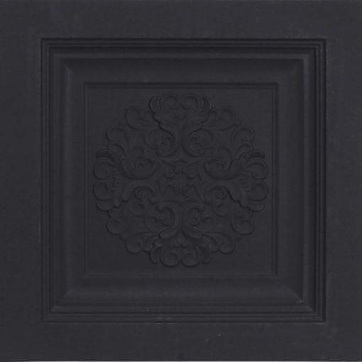 268 Faux Tin Ceiling Tile - Black Matte