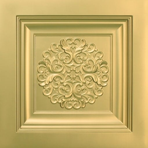 268 Faux Tin Ceiling Tile - Brass