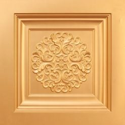 268 Faux Tin Ceiling Tile - Gold