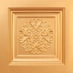 268 Faux Tin Ceiling Tile - Gold