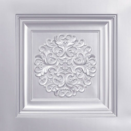 268 Faux Tin Ceiling Tile - Silver