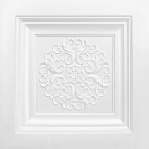 268 Faux Tin Ceiling Tile - White Pearl