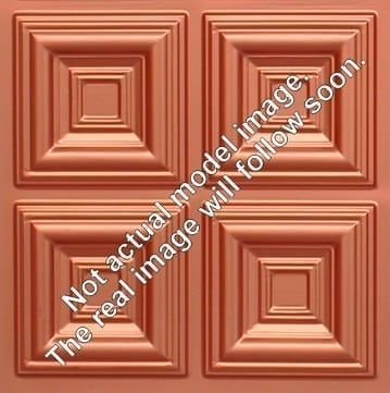 268 Faux Tin Ceiling Tile - Copper