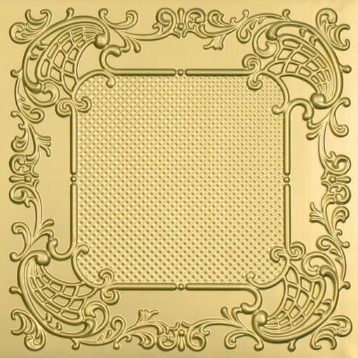 269 Faux Tin Ceiling Tile - Brass