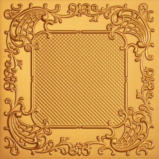 269 Faux Tin Ceiling Tile - Gold