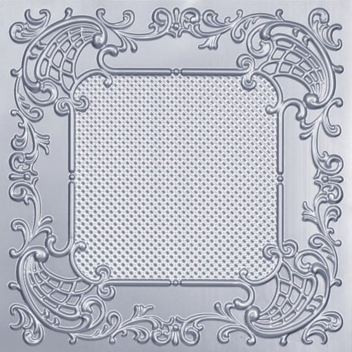 269 Faux Tin Ceiling Tile - Silver
