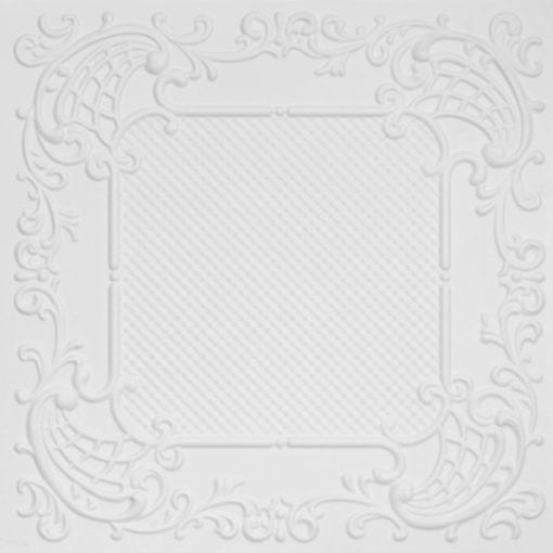 269 Faux Tin Ceiling Tile - White Matte