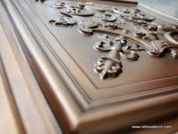 TD07 Aged Copper Faux Tin Ceiling Tile - Talissa Signature Collection