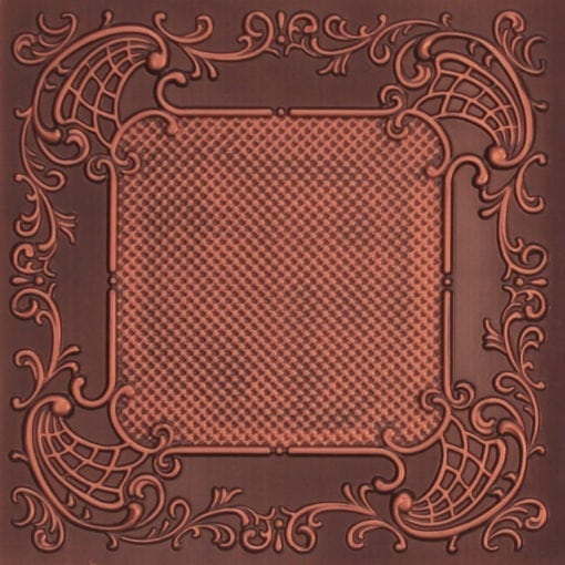 269 Faux Tin Ceiling Tile - Antique Copper