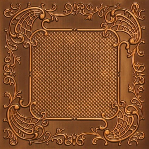 269 Faux Tin Ceiling Tile - Antique Gold
