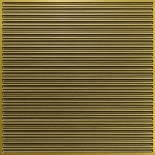 251 Faux Tin Ceiling Tile - Antique Brass