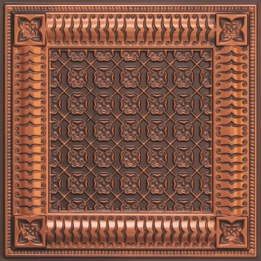 256 Faux Tin Ceiling Tile - Antique Copper