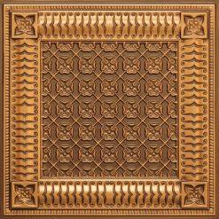 256 Faux Tin Ceiling Tile - Antique Brass