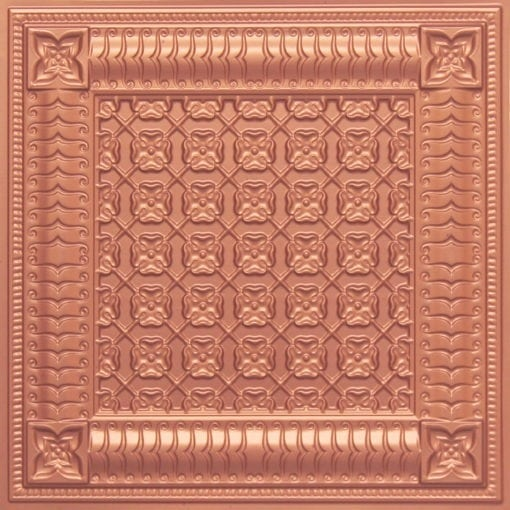 256 Faux Tin Ceiling Tile - Copper