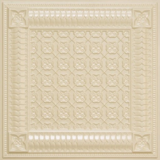 256 Faux Tin Ceiling Tile - Cream Pearl