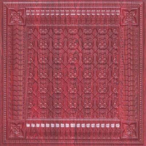 256 Faux Tin Ceiling Tile - Rosewood