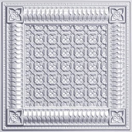 256 Faux Tin Ceiling Tile - Silver