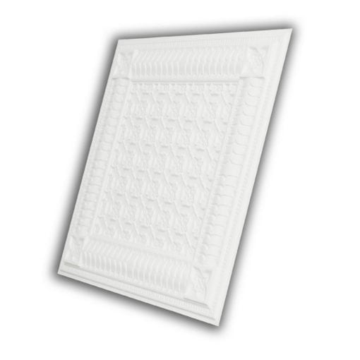 256 Faux Tin Ceiling Tile - White Matte