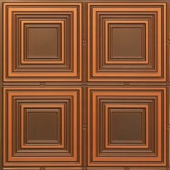 257 Faux Tin Ceiling Tile - Antique Copper