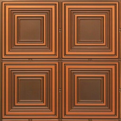 257 Faux Tin Ceiling Tile - Antique Copper