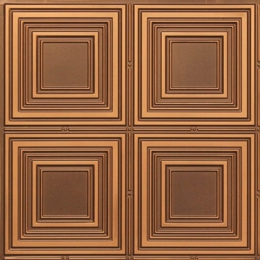 257 Faux Tin Ceiling Tile - Antique Gold