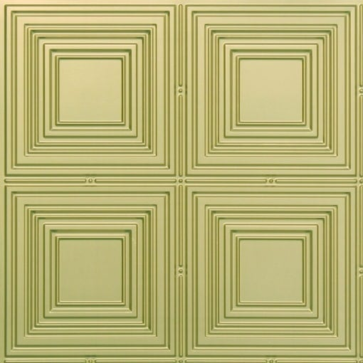 257 Faux Tin Ceiling Tile - Brass