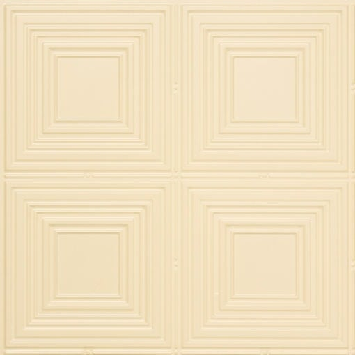 257 Faux Tin Ceiling Tile - Cream Pearl